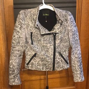 Sparkly Tweed Motorcycle Jacket (Size S)